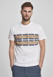 Pánske tričko URBAN CLASSICS Inka Pattern Tee white
