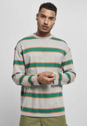 Pánske tričko URBAN CLASSICS Light Stripe Oversized grey/green