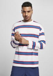 Pánske tričko URBAN CLASSICS Light Stripe Oversized white/blue