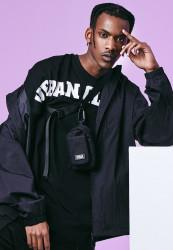 Pánske tričko URBAN CLASSICS Long Shaped Big Logo Tee black