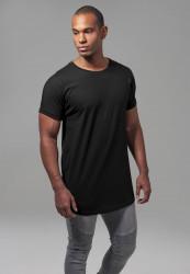 Pánske tričko URBAN CLASSICS Long Shaped Turnup Tee black