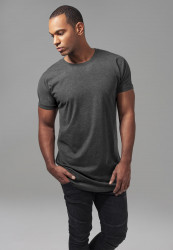 Pánske tričko URBAN CLASSICS Long Shaped Turnup Tee charcoal