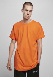 Pánske tričko URBAN CLASSICS Long Shaped Turnup Tee mandarin
