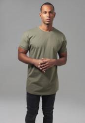 Pánske tričko URBAN CLASSICS Long Shaped Turnup Tee olive