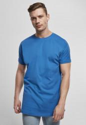 Pánske tričko URBAN CLASSICS Long Shaped Turnup Tee sporty blue