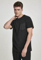 Pánske tričko URBAN CLASSICS Modal Mix Pocket Tee black