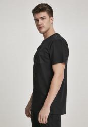 Pánske tričko URBAN CLASSICS Modal Mix Pocket Tee black #1