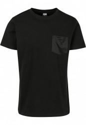 Pánske tričko URBAN CLASSICS Modal Mix Pocket Tee black #4