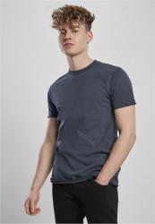 Pánske tričko URBAN CLASSICS Open Edge Pigment Dyed Basic midnightnavy