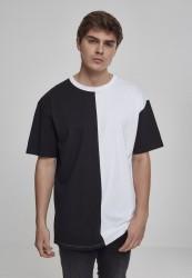 Pánske tričko URBAN CLASSICS Oversize Harlequin Tee blk/wht