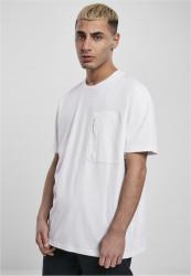 Pánske tričko URBAN CLASSICS Oversized Big Pocket Tee white