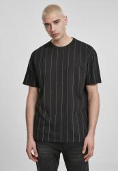 Pánske tričko URBAN CLASSICS Oversized Pinstripe Tee black