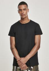 Pánske tričko URBAN CLASSICS Pigment Dye High Low Tee black