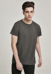 Pánske tričko URBAN CLASSICS Pigment Dye High Low Tee darkgrey