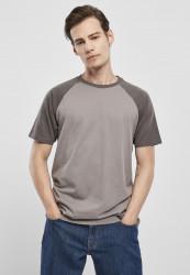Pánske tričko URBAN CLASSICS Raglan Contrast Tee asphalt/darkshadow