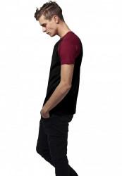 Pánske tričko URBAN CLASSICS RAGLAN CONTRAST TEE blk/burgundy #1