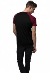 Pánske tričko URBAN CLASSICS RAGLAN CONTRAST TEE blk/burgundy #2