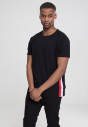Pánske tričko URBAN CLASSICS Raglan Side Stripe Tee black/fire red/white