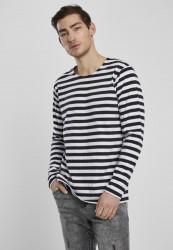 Pánske tričko Urban Classics Regular Stripe LS white/black