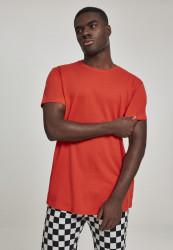 Pánske tričko URBAN CLASSICS SHAPED LONG TEE BLOODORANGE