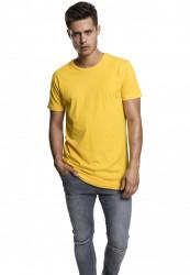Pánske tričko URBAN CLASSICS SHAPED LONG TEE CHROME YELLOW