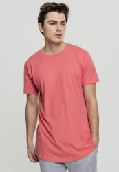 Pánske tričko URBAN CLASSICS SHAPED LONG TEE CORAL