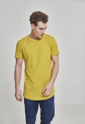 Pánske tričko URBAN CLASSICS SHAPED LONG TEE LEMON MUSTARD