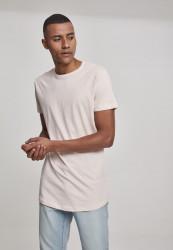Pánske tričko URBAN CLASSICS SHAPED LONG TEE PINK
