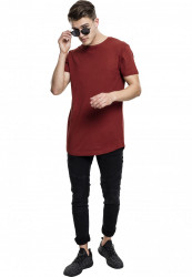 Pánske tričko URBAN CLASSICS SHAPED LONG TEE RUSTY