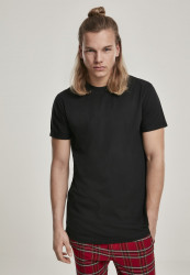 Pánske tričko URBAN CLASSICS Short Shaped Turn Up Tee black