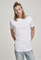 Pánske tričko URBAN CLASSICS Short Shaped Turn Up Tee white