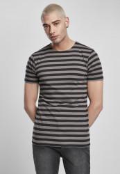 Pánske tričko URBAN CLASSICS Stripe Tee asphalt/black