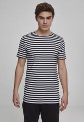 Pánske tričko URBAN CLASSICS Stripe Tee blk/wht