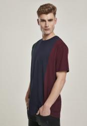 Pánske tričko URBAN CLASSICS Tripple Tee bottlegreen/midnightnavy #1