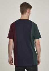 Pánske tričko URBAN CLASSICS Tripple Tee bottlegreen/midnightnavy #2
