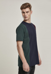 Pánske tričko URBAN CLASSICS Tripple Tee bottlegreen/midnightnavy #3