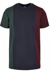 Pánske tričko URBAN CLASSICS Tripple Tee bottlegreen/midnightnavy #5