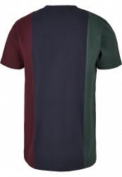 Pánske tričko URBAN CLASSICS Tripple Tee bottlegreen/midnightnavy #6