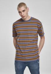 Pánske tričko URBAN CLASSICS Yarn Dyed Oversized Board Stripe Tee summerolive/vintageblue