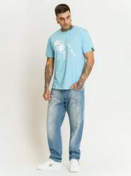 Pánske tyrkysové tričko Amstaff Logo 2.0 T-Shirt Size: 3XL #2