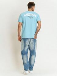 Pánske tyrkysové tričko Amstaff Logo 2.0 T-Shirt Size: 3XL #3