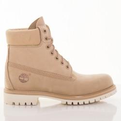 Pánske vodeodolné béžové kožené zimné topánky Timberland ICON 6-INCH