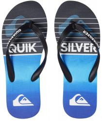 Pánske žabky Quiksilver Molokai Highline Slab black/black/blue
