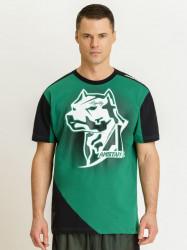 Pánske zelené tričko Amstaff Smash T-Shirt Size: 3XL