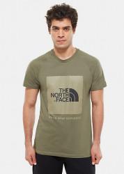 Pánske zelené tričko s krátkym rukávom The North Face Farba: Zelená,