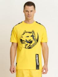 Pánske žlté tričko Amstaff Antar T-Shirt Size: 3XL