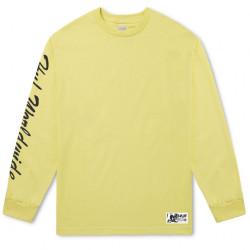 Pánske žlté tričko s dlhým rukávom HUF Felix Santee L/S Tee