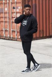 Pánsky čierny crewneck Sixth June Raglan Sweatshirt #1