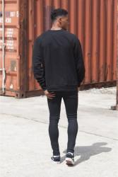Pánsky čierny crewneck Sixth June Raglan Sweatshirt #2