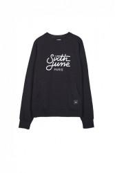 Pánsky čierny crewneck Sixth June Raglan Sweatshirt #3